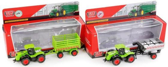 Трактор Технопарк ТРАКТОР зеленый 77039-R машина технопарк трактор 30519