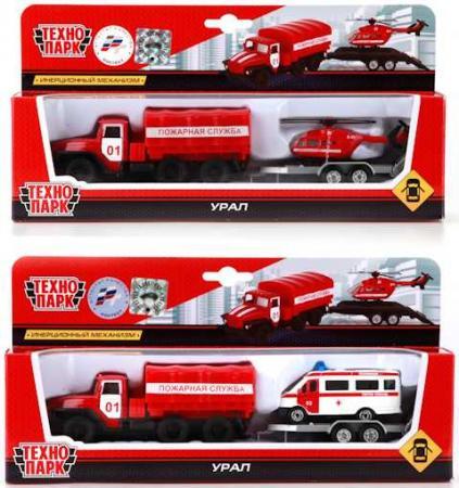 Инерционная машинка Технопарк Урал - Пожарная служба красный SB-16-13 игрушка технопарк трамвай sb 13 01 2t