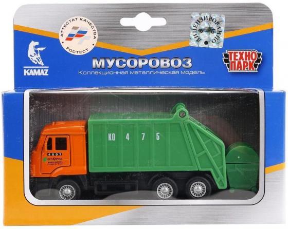 Мусоровоз Технопарк КАМАЗ. МУСОРОВОЗ зеленый SB-16-25WB (48) технопарк набор с машинками технопарк стройтехника камаз и мусоровоз с дорожными знаками