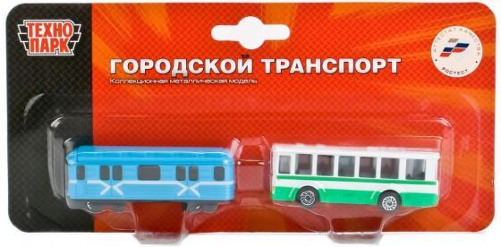Набор Технопарк ТРАМВАЙ И ТРОЛЛЕЙБУС разноцветный SB-15-06-BLС игрушка технопарк трамвай 1079bc r