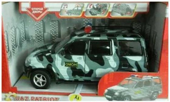 Автомобиль Технопарк УАЗ Патриот - Омон камуфляжный X600-H11003-R автомобиль технопарк гонки цвет в ассортименте ebs868 r