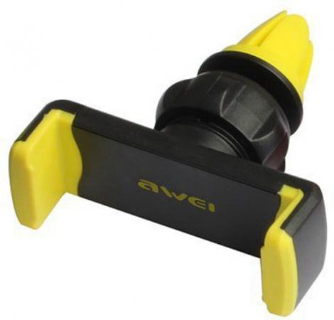 AWEI X1-YEW держатель для телефона, на воздуховод, зажим, черный/желтый аксессуар awei cl 20 gold