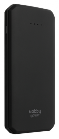Внешний аккумулятор Power Bank 10000 мАч Nobby NBE-PB-10-03 черный внешний аккумулятор df dual 01 10000 мач черный