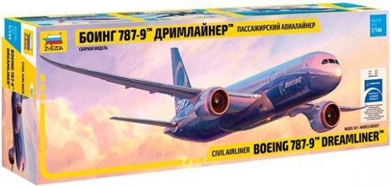 Самолёт Звезда БОИНГ 787-9 ДРИМЛАЙНЕР 1:144 белый 7021 пассажирский авиалайнер боинг 787 9 дримлайнер