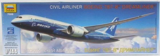 Самолёт Звезда БОИНГ 787-8 ДРИМЛАЙНЕР 1:144 белый 7008 пассажирский авиалайнер боинг 787 9 дримлайнер