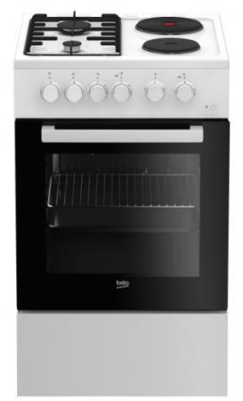 Комбинированная плита Beko FFSS 54000 W белый электрическая плита beko fsm 67320 gas