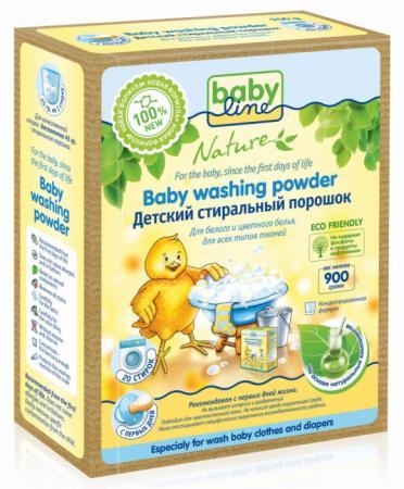 Стиральный порошок на основе натуральных ингредиентов Babyline Nature концентрат 0,9 кг babyline детский стиральный порошок концентрат 2 25 кг