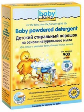 Стиральный порошок BABYLINE на основе натурального мыла 0,9 кг стиральные порошки babyline детский стиральный порошок babyline nature на основе натуральных ингредиентов 900 гр 20 стирок
