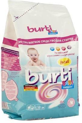 Стиральный порошок Burti Compact Baby 0,9 кг baby speci стиральный порошок 500 гр baby speci