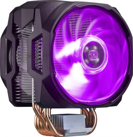 Cooler Master CPU Cooler MasterAir MA620P, 600-2400 RPM, 200W, RGB LED fan, RGB lighting controller, Full Socket Support to music 2 3 channel led controller rf music controller rgb audio controller white black