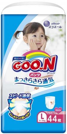 Трусики для девочек Goon L (9-14 кг) 44 шт. goon премиум 9 14 кг l 38 шт