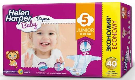 Подгузники Helen Harper Baby размер 5 Junior (11-25 кг) 40 шт. подгузники helen harper soft dry junior 15 25 кг 44 шт