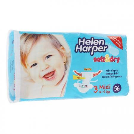 Подгузники Helen Harper Soft Dry midi (4-9 кг) 56 шт. helen harper подгузники soft