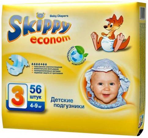 Подгузники Skippy Econom 7016 размер 3 (4-9 кг) 56 шт подгузники skippy подгузники econom р 3 4 9 кг 56 шт