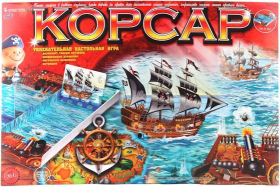 ИГРА НАСТОЛЬНАЯ КОРСАР в кор.10шт настольная игра funville вызов морских глубин 11735