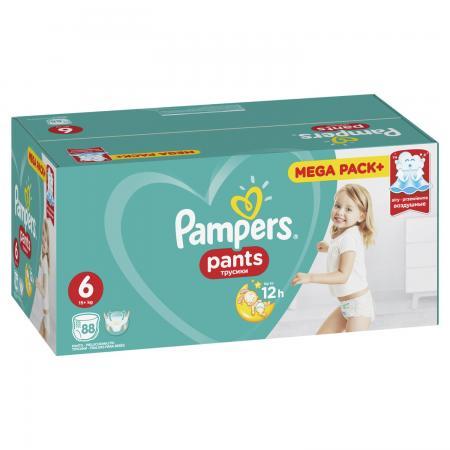 Трусики Pampers Pants 6 (15+ кг) 88 шт трусики pampers pants 6 15 кг 44 шт