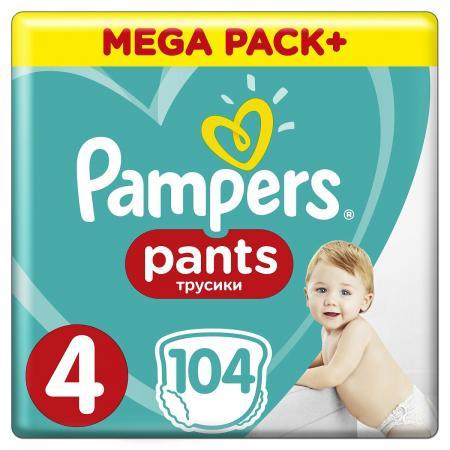 Трусики Pampers Pants 4 (8-14 кг) 104 шт трусики подгузники pampers pants maxi 9 14 кг 4 размер 104 шт