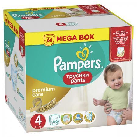 Трусики Pampers Premium Care Pants 4 (8-14 кг) 66 шт pampers premium care pants 9 14 кг 44 шт