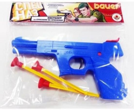 Пистолет Кроха СПЕЦНАЗ голубой 285 БАУЕР игрушка bauer спецназ 285