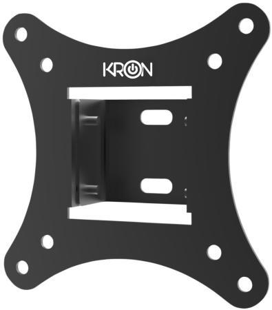 Кронштейн ONKRON/ 10-27 макс. 100*100, наклон -5+15?, поворот 0?, от стены 30-43мм, вес до 20кг, черный кронштейн onkron 17 27