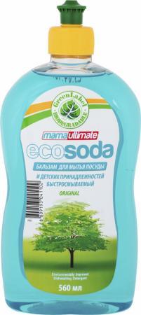 Бальзам для мытья посуды и детских принадлежностей Mama Ultimate EcoSoda быстросмываемый 560 мл гель для мытья посуды и детских принадлежностей mama lemon концентрат антибактериальный 1 л