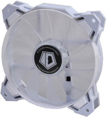 Case Fan ID-Cooling SF-12025-W White LED / PWM / White frame [ID-FAN-SF-12025-W] 3 pin brushless computer pc case cooling fan 5 x 5cm