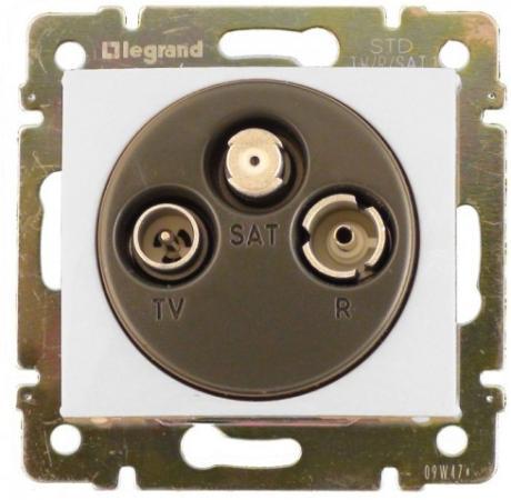 Legrand 774436 Розетка TV-FM-SAT - Valena - оконечная - 10 дБ - 2400 МГц - белый