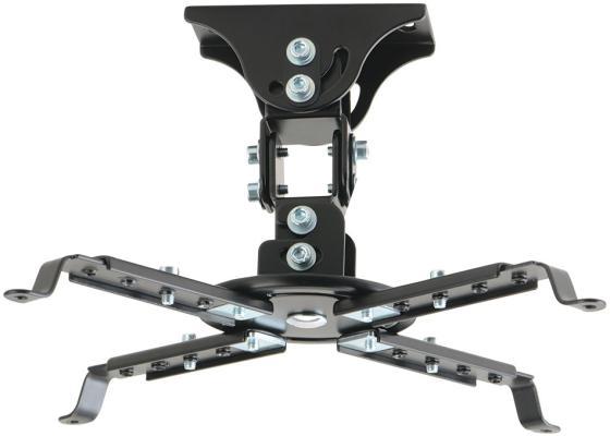 Фото - Кронштейн Kromax PROJECTOR-45 Black пот. для проекторов max 12 кг, 3 ст св., нак. ±20°, пов. 360°, от пот. 150 мм. автокресло zlatek колибри 0 13 кг коричневое kres 0181
