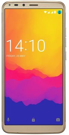 Смартфон Prestigio Grace P7 (PSP7570DUOGOLD) Fingerprint scanner,Dual SIM, 4G,5.7` HD+ (1440*720) 18:9 fullscreen IPS,2.5D,Android 7.0 Nougat,Quad-Cor [hk stock] bluboo s8 4gb 64gb dual rear cameras fingerprint identification 6 0 inch android 7 0 mtk6750t octa core up to 1 5ghz network 4g dual sim black