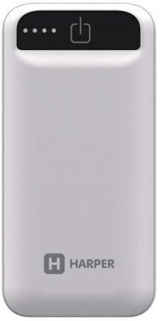 Купить Внешний аккумулятор HARPER PB-2605 White, Внешний аккумулятор Power Bank, белый