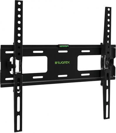 Фото - Кронштейн Tuarex OLIMP-204 black, настенный для TV 26-65, угол наклона ±15, макс 40кг, от стены 48мм, VESA 400x400 кронштейн