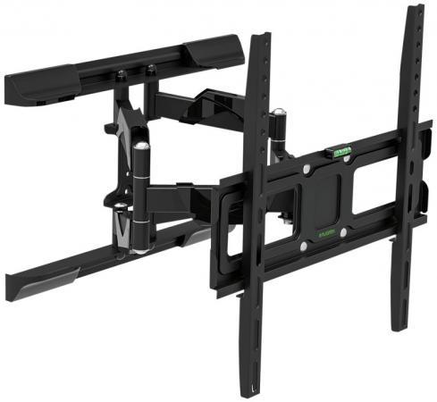 Кронштейн Tuarex OLIMP-407 black, настенный для TV 26-55, поворот 120, наклон +10-12, от стены 72-397мм, макс 35кг, VESA 400x400