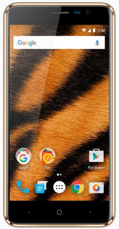 "Смартфон Vertex Impress Tiger 4G золотистый 5"" 8 Гб LTE Wi-Fi GPS 3G смартфон vertex impress fortune 4g 16 гб золотистый frtn gld"