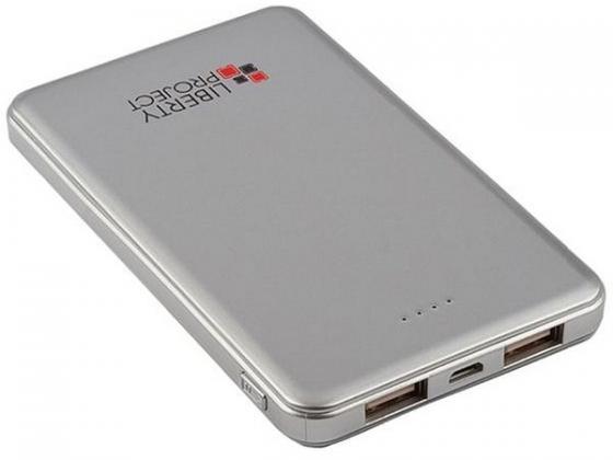 Внешний аккумулятор LP 5000 мАч Li-Pol (серебристый) 0L-00002279 внешний аккумулятор samsung eb pg930bbrgru 5100mah черный
