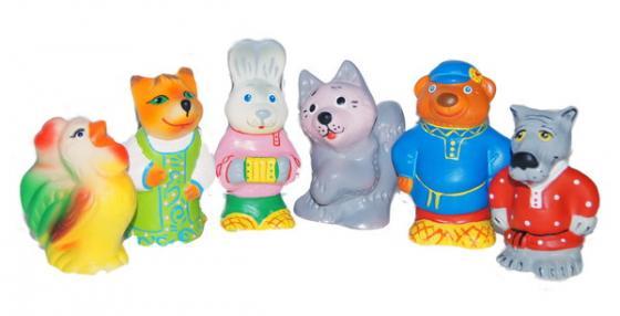 Купить Набор игрушек для ванны Пфк игрушки Заюшкина избушка, Резиновые игрушки
