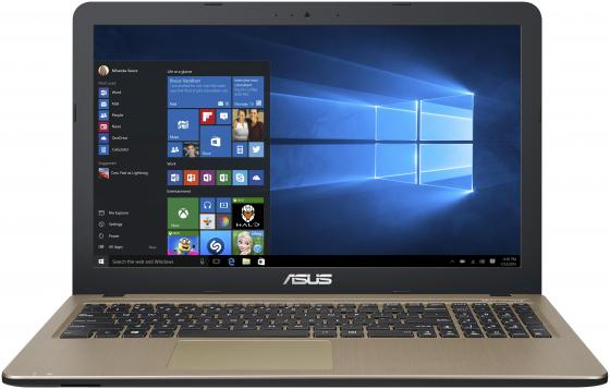 Купить Ноутбук ASUS X540NA-GQ004T 15.6 1366x768 Intel Celeron-N3450 500 Gb 4Gb nVidia GeForce GT 920MX черный Windows 10 Home 90NB0HM1-M00060