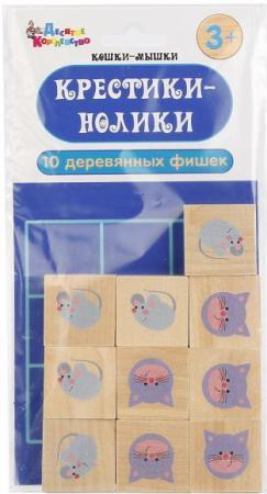 Настольная игра развивающая Тридевятое царство Крестики нолики кошки мышки русский стиль настольная игра крестики нолики 3d
