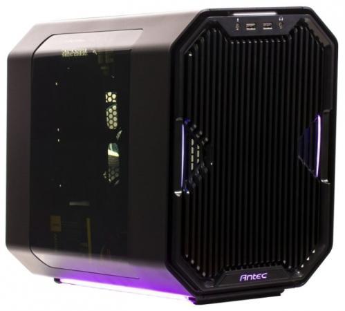 Корпус Antec CUBE-EK BLACK , mini-ITX, без БП, с окном, 2x USB 3.0, RGB подсветка, реобас до 6 вентилятоов, 3 мм алюминий / 0,8 мм сталь. jrled 6 pin rgb led emitter series connection pcb boards black silver 3 pcs