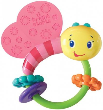 Развивающая игрушка-погремушка Bright Starts Розовая бабочка игрушка подвеска bright starts развивающая игрушка щенок