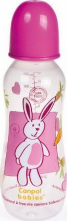Бутылочка Canpol PP (BPA 0%) с сил. соской, 12+ мес., 330 мл. арт. 59/205prz цвет розовый casio часы casio efr 549l 7a коллекция edifice