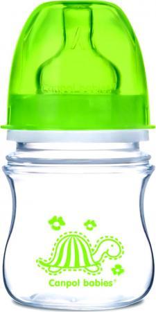 Бутылочка Canpol EasyStart Animals шир. горл., антикол., PP, 3+ ,120 мл, арт. 35/205, цвет зеленый бутылочки canpol pp easystart с широким горлышком антиколиковая 120 мл 0 newborn baby