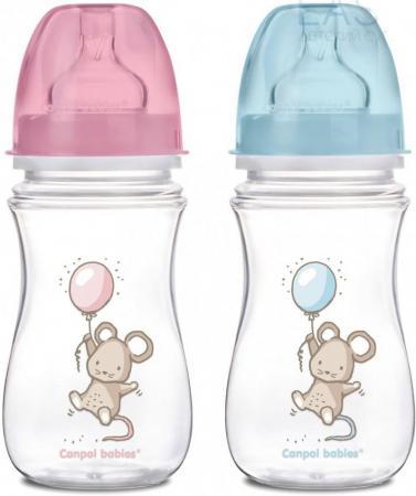 Бутылочка Canpol EasyStart Little cuties PP, шир. горл., антикол., 240 мл, 3+, арт. 35/219 поильники canpol 370 мл 56 113