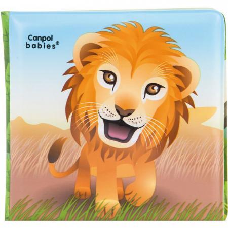 Книжка с пищалкой Canpol 6+ мес., арт. 2/083, рисунок: львенок цена
