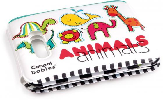 Книжка мягкая с пищалкой Canpol Colourful animals арт. 74/009, 6+
