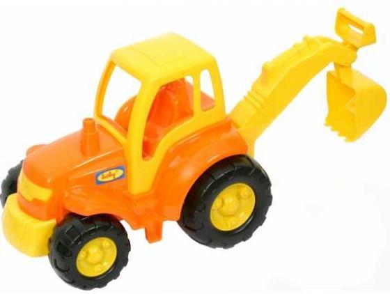Трактор Полесье ЧЕМПИОН, ТРАКТОР С ЛОПАТОЙ желтый 0568 полесье трактор мастер с полуприцепом лесовозом цвет синий желтый красный