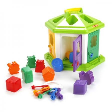 Сортер ПОЛЕСЬЕ Логический домик №2 пластмастер сортер логический куб