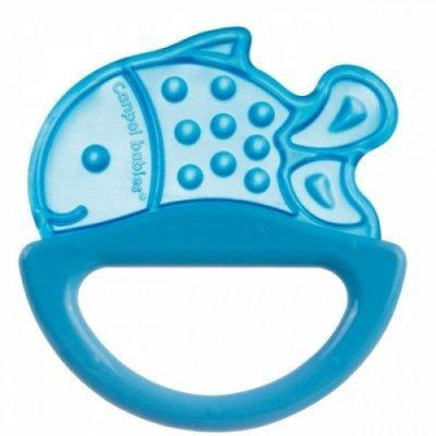 Погремушка с эластичным прорезывателем Canpol арт. 13/107, 0+ мес., цвет голубой, форма рыбка