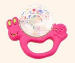Погремушка Canpol Улитка/бабочка, 0+ мес., арт. 2/874, цвет: розовый, форма: улитка