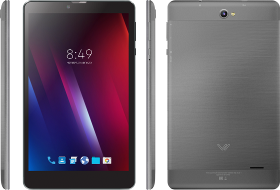 Планшет Vertex Tab 4G 8-1 (VT81-GRF) MediaTek MT8735 (1.1) / 1GB / 8GB / 8 1280x800 IPS / 3G / 4G LTE / 5Mp, 2 Mp / Android 7.0 (Grafite) original 1gb ras pi 3 kit raspberry pi 3 model b board acrylic case cooling fan sic heat sink 5v2 5a power charger 2 4g keyboard