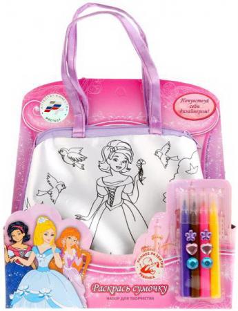 Набор для творчества MultiArt Принцессы, сумочка для росписи с фломастерами и стразами в кор.2*96шт наборы для творчества multiart браслеты с фотографией winx
